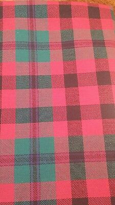 """wool blend plaid material 60"""" X  1.5  yards red ...black...green"""