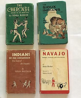 Sonia Bleeker Books (4) Longhouse ,Navajo, Sioux , Cherokee First Editions