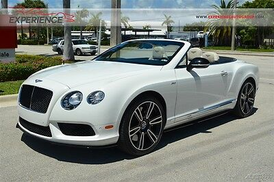 2015 Bentley Continental GT V8 S Convertible Mulliner Drilled Ventilated Quilted Diamond Stitched Sports Exhaust Bluetooth Deep Pile