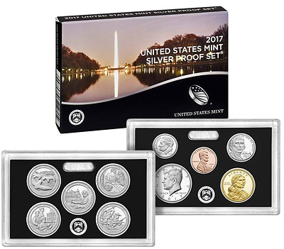 2017 US Mint SILVER Annual Proof Set 10 Coins Coin set