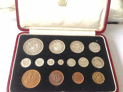 1937 Royal Mint Proof 15 Coin Set. Crown To Maundy Penny