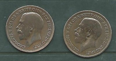 6  GVth PENNIES. DATED  3 X 1919, 2 X 1916 & 1 X 1917. COLLECTABLE. 6 SCANS