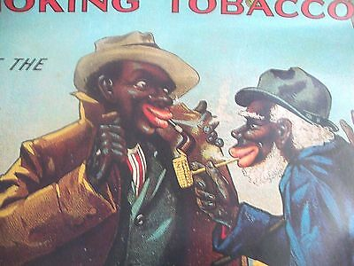 "VTG ""BLACK AMERICANA""  Bull Durham Tobacco Poster  WITHOUT A MATCH  21"" X 17"""