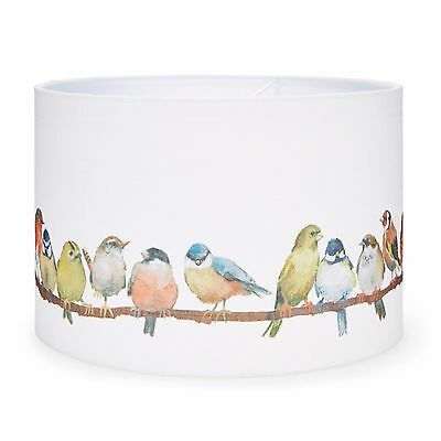 """LAURA ASHLEY 14"""" BIRDS PRINTED FABRIC SHADE for CEILING OR LAMP"""
