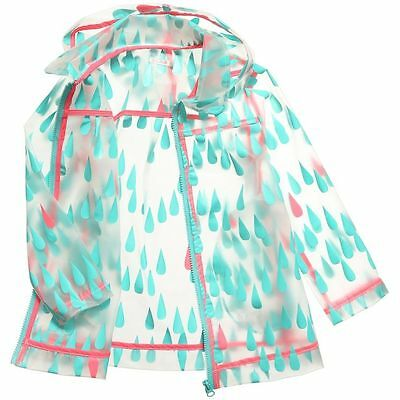 Girls BILLIEBLUSH  Designer Transparent Raindrop Raincoat/Jacket Age 4 Yrs (3-4)