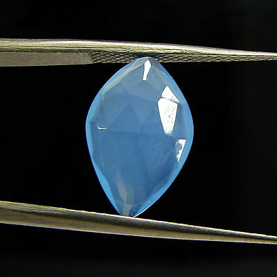 2.80 Ct Natural Blue Chalcedony Loose Faceted Gemstone Beautiful Stone - 10796