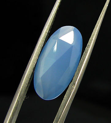 2.90 Ct Natural Blue Chalcedony Loose Faceted Gemstone Beautiful Stone - 10785