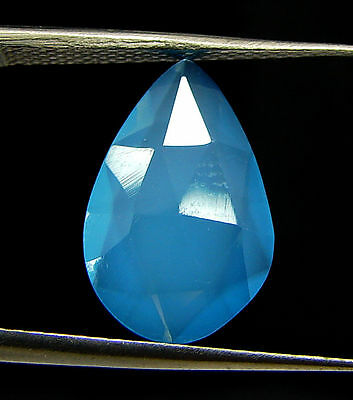 2.50 Ct Natural Blue Chalcedony Loose Faceted Gemstone Beautiful Stone - 10842