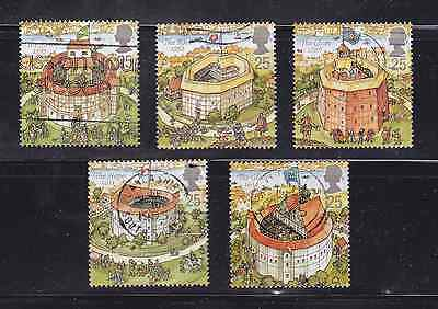 Gb Stamps Fine Used -Sg 1883/86 - Reconstruction Shakespear's Globo Theatre