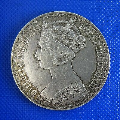 Victoria, Silver Gothic Florin, 1885, Type B8. Very Good Grade.Lightly Toned.