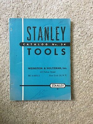 Stanley Tools Catalog No. 34 Edition 1955