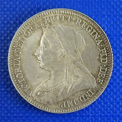Victoria, Sixpence, 1893. Very high Grade - Attractively Toned and lustrous