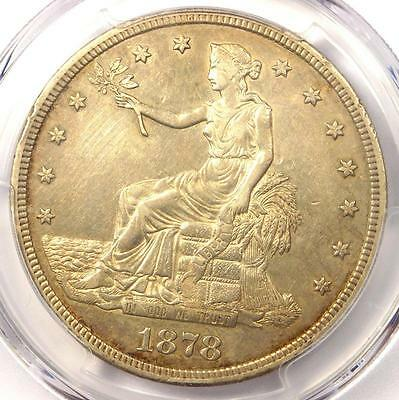1878-S Trade Silver Dollar T$1 - Certified PCGS AU Detail - Rare Certified Coin!