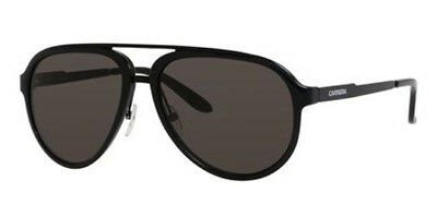 Carrera Men's Shiny Black/Matte Black Double-Bridge Pilot Sunglasses 96S 0GVB