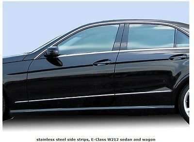 Mercedes W212 E Class Saloon Estate Wagon Stainless Steel Chrome door wing trims