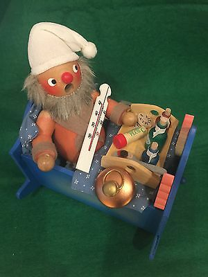 """Spoonful Of Sugar"" Wooden Toy Rocking Cradle Music Box Vintage Germany"