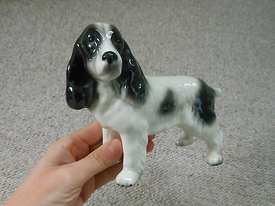 Melba Ware black & White Spaniel dog