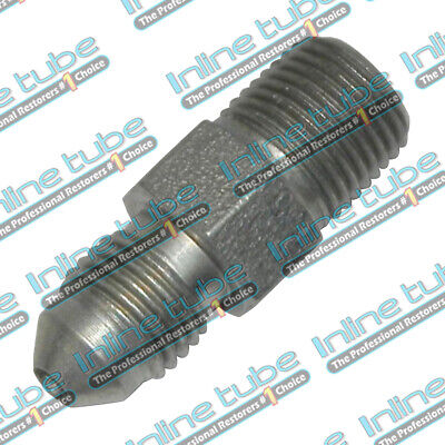 -3AN Male To 1/8 Pipe NPT Male Straight Adapter Fitting Plated Steel ANC104