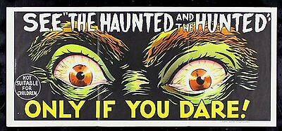 HAUNTED AND THE HUNTED ✯ CineMasterpieces AUSTRALIAN AUSTRALIA MOVIE POSTER 1963