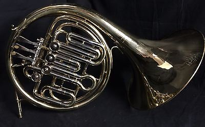 Used Getzen Elkhorn Double French Horn w/ Mouthpiece and case