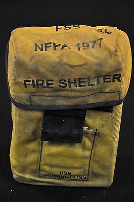 USFS Forestry Service FIRE SHELTER w/ Yellow ALICE Carrier Case FSS unused #26