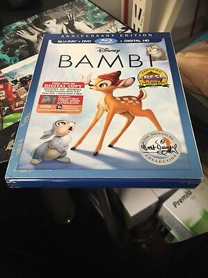 Bambi (Blu-ray/DVD, 2017, 2-Disc Set, Signature Edition) Brand New Sealed