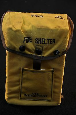 USFS Forestry Service FIRE SHELTER w/ Yellow ALICE Carrier Case FSS unused #22