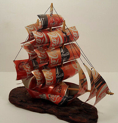 Vintage Coca-Cola Can Sail Boat Ship Art Olymics Cans 1996