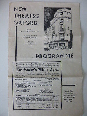 Vintage programme from the New Theatre Oxford, 1942. The Sadler's Wells Opera