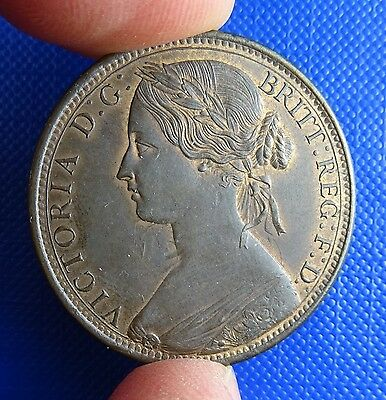 Victoria, Penny, 1862. Obverse 6, Reverse G - High Grade - Some Lustre
