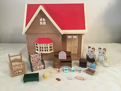 Sylvanian Families Rose Cottage, Figures, Furniture & Accessories