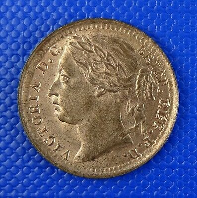 Victoria, Third Farthing, 1884. Uncirculated with Full Mint Lustre