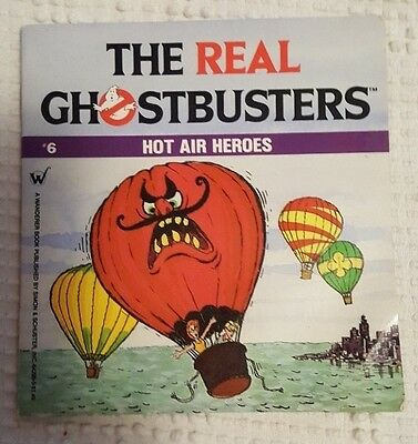 Extremely Rare OOP Collectible PB Book The Real Ghostbusters Hot Air Heroes 1987
