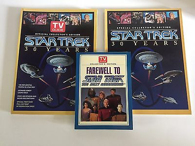 2x Star Trek Special Collector's Edition TV Guide & Farewell to Star Trek