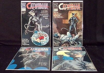 DC Comics Mindy Newell-JJ Birch Catwoman #1-#4 Complete Set All VF/NM