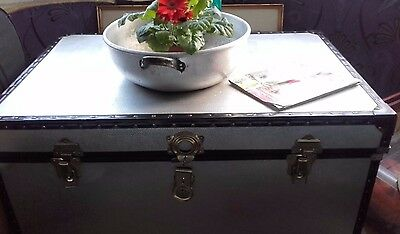 Large VTG RETRO MODERNIST AluminiumTrunk Blanket Box/Storage Chest COFFEE TABLE