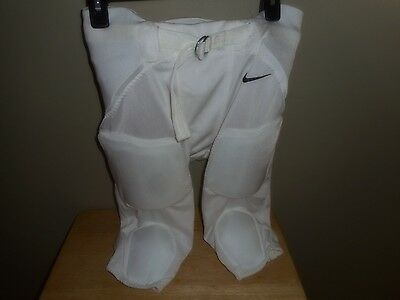 NIKE Youth  Boys White Football Pants Padded For Protection Size Large