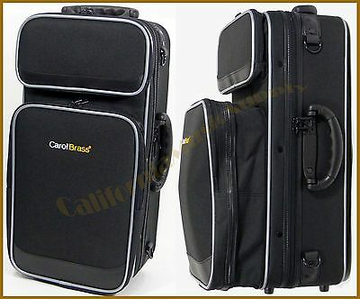Carolbrass Deluxe Soft Trumpet Case With Expandable Compartment, Backpack Straps