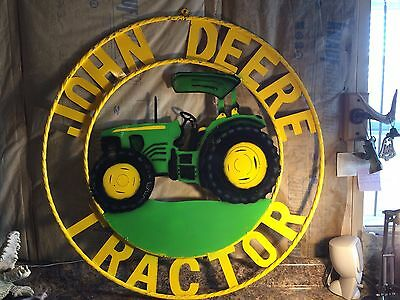Unique John Deere Tractor Huge Metal Sign (New)