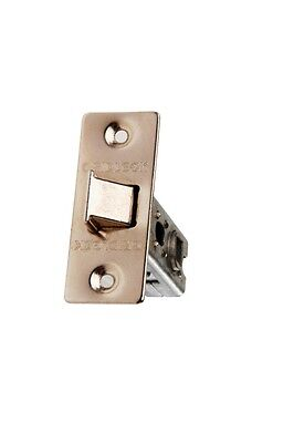 Intelligent Tubular Mortice Latch Electro Brass 75mm