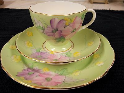 """Foley China """"Begonia"""" Trio...cup saucer and Tea plate...no damage"""
