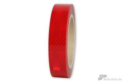 5m x 25mm 3M™ Engineer Grade Reflex Ribbon 3430 RA1 Reflex Foil Reflective Red