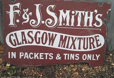 RARE Cigarette Sign. F & J SMITH HARVEST MOON GLASGOW MIXTURE. Early 1900s