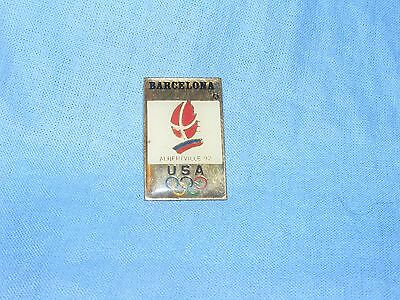 Olympic Games Badge Winter Olympics 1992 Albertville Pin USA Button Enamel