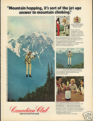 1972 Canadian Club Cheakamus Canyon Tantalus Mountains Whisky Print Ad ^