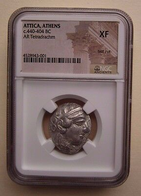 Ancient Greek Attica Athens c.440-404 BC AR Tetradrachm XF NGC Coin