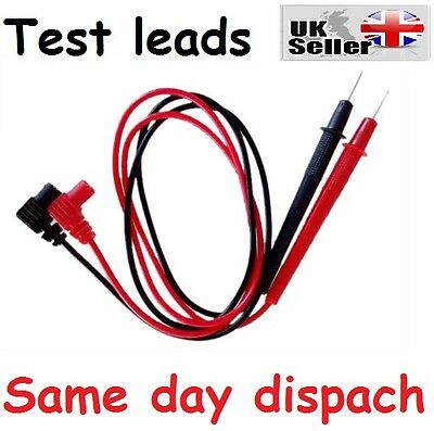 "1 pair 28"" Multimeter Test Leads, Black and Red CP UK stock Freepost"