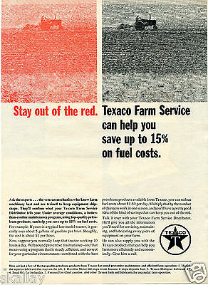 1964 Print Ad of Texaco Farm Service Tractor Products