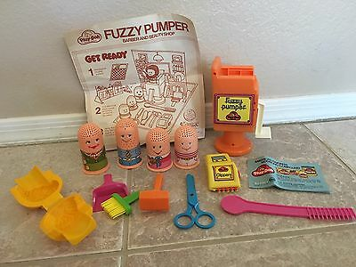 Vintage 1977 Play-Doh Fuzzy Pumper Barber And Beauty Shop