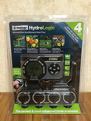 NEW Melnor HydroLogic Advanced 4-Zone 24 Cycle Electronic Water Hose Timer 53280